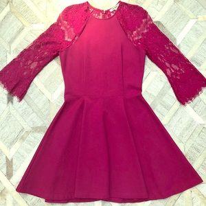 BB Dakota dark pink fit and flare dress.